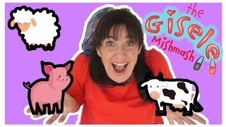 SHOW FOR LEARNING ANIMALS THAT LIVE ON THE FARM | Real & Toy Farm Animals|  Counting Phonics & More!