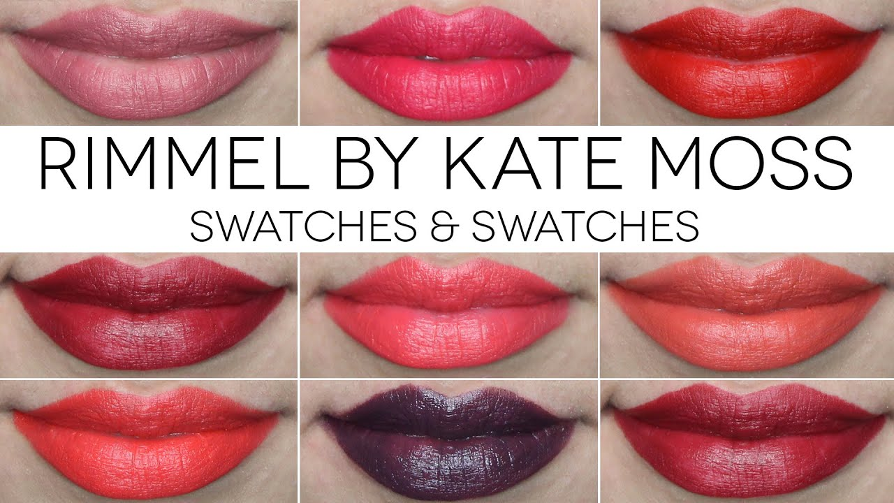 rimmel by kate moss lipsticks swatches makeup declutter