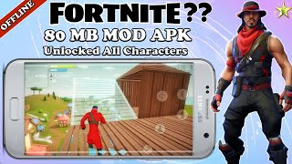 TRAINER. IO (FORTNITE OFFLINE) Mod Apk || unlocked All Characters || Download On Android || Gameplay