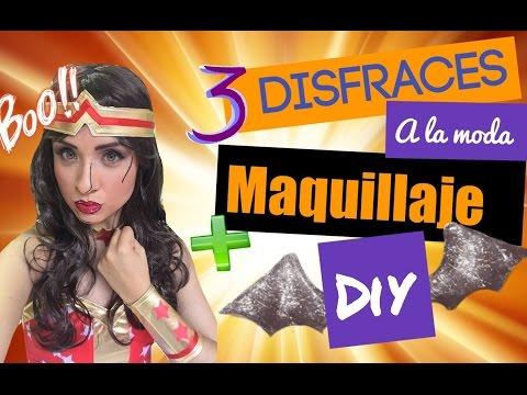 ¿De qué me disfrazo? 3 ideas + Maquillaje -DIY - #mafconsejos