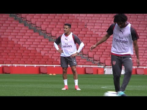 Alexis Sanchez Trains With Arsenal Squad At Emirates Stadium Ahead Of Community Shield