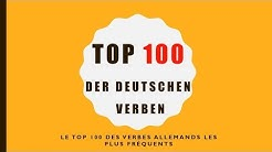 Top 100 des verbes allemands les plus utilisés | Top 100 der deutschen Verben
