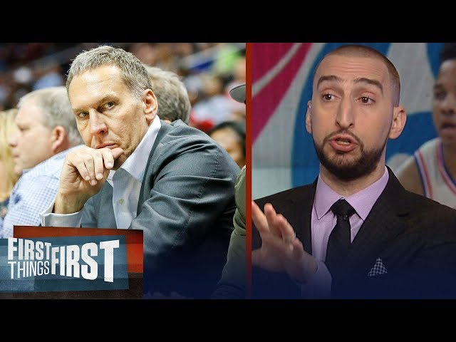 Nick Wright on 76ers Colangelo using fake Twitter accounts to rip Embiid | NBA | FIRST THINGS FIRST