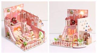 DIY Miniature Dollhouse Kit || dream childhood / LÀM NHÀ MÔ HÌNH TÝ HON