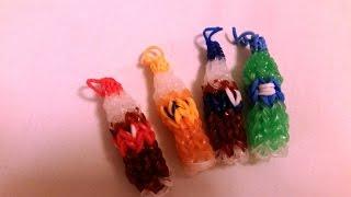 Tęczowe gumki po Polsku- butelka coca- coli