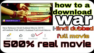 New release Hindi dubbed full movie 2019 || war Hindi Dubbed full movie 2019 || BD Android Master