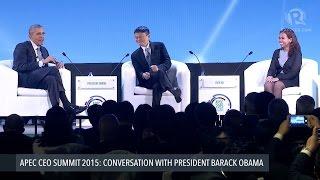 Filipina entrepreneur to Obama, Jack Ma: We need support