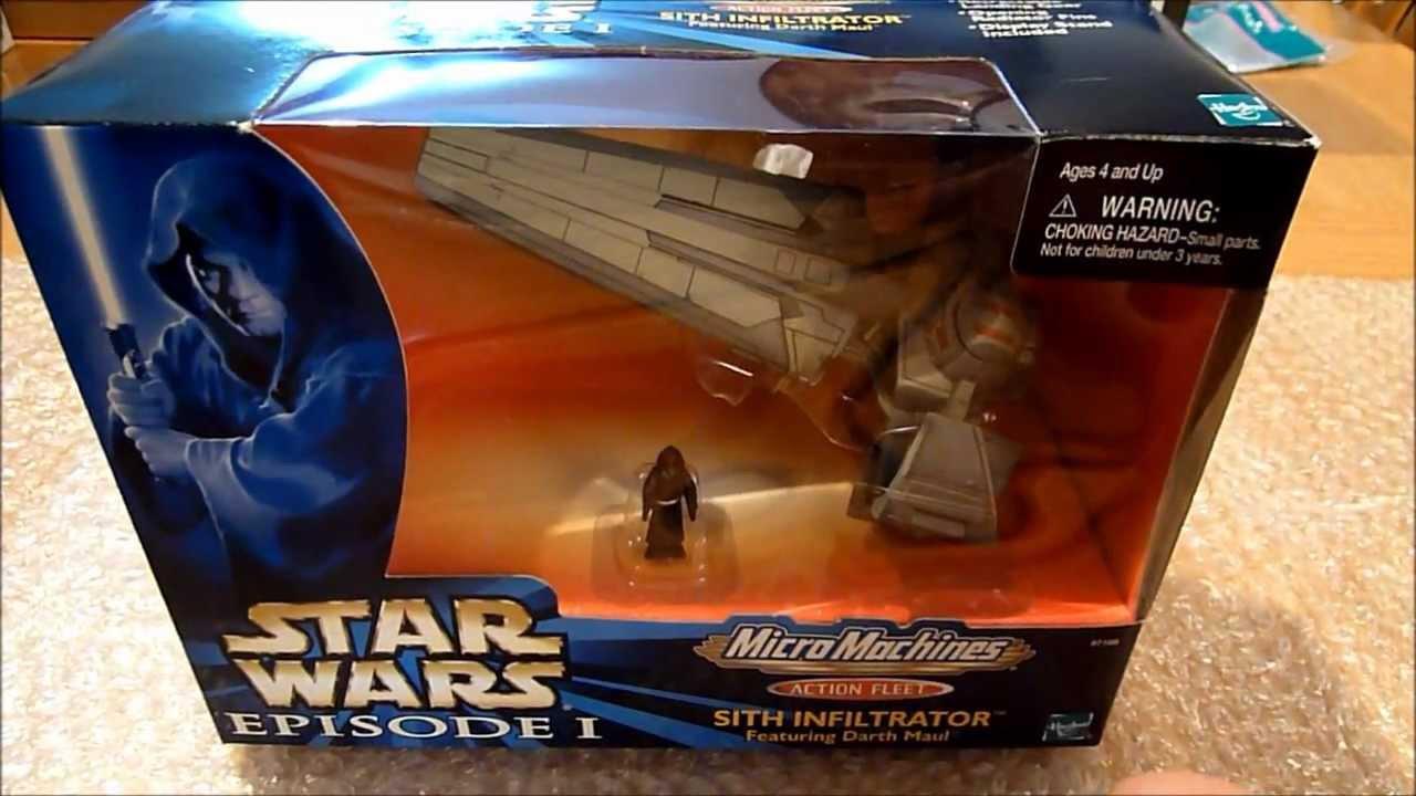 Star wars MICRO MACHINES Darth Maul/'s Sith Infiltrator HASBRO