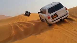 Toyota Land Cruiser and Nissan Patrol VTC dunebashing in UAE