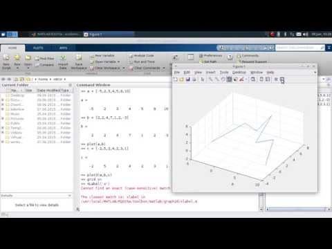MATLAB Tutorial - Teil 3 - Einfache Plots, Skripte und eigene Funktionen