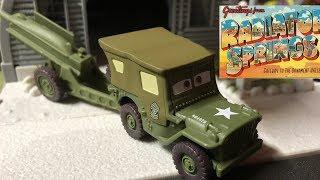 Mattel Pixar Cars 2018 Radiator Springs Sarge w/ Cannon Die-cast
