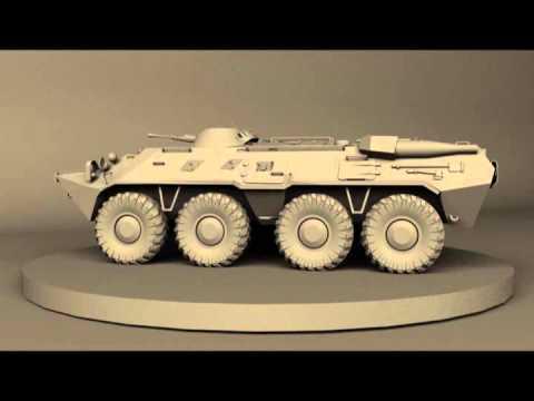 BTR-80 3D model WIP