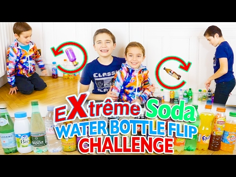 EXTRÊME SODA WATER BOTTLE FLIP CHALLENGE - Battle Néo VS Swan