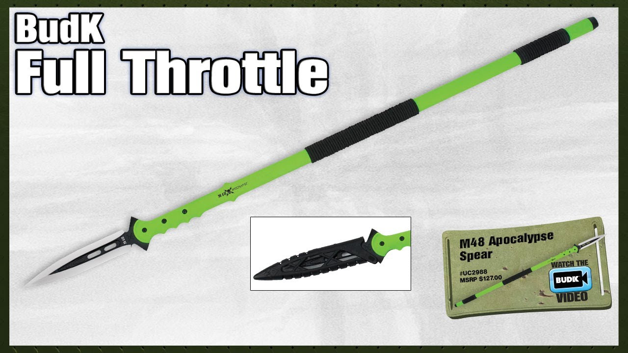 M48 Apocalypse Undead Survival Spear and Molded Sheath | BUDK com