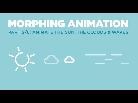 Morphing Animation Tutorial: Animating the Sun, the clouds and waves (Part 2/6)