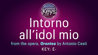 Intorno all'idol mio.  E- (karaoke piano)  WITH LYRICS
