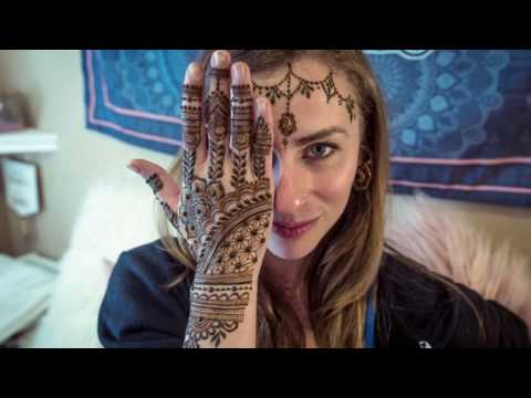 Intermediate Henna Design | Sacred Geometry Pattern Fusion | Gopi Henna Time-lapse