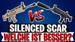 NEUE SILENCED SCAR VS ALTE SCAR | WELCHE IST BESSER? | Fortnite Battle Royale