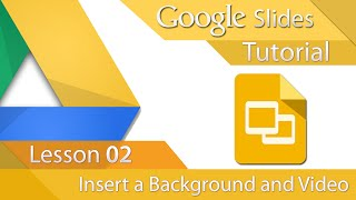 Google Slides - Tutorial 02 - Insert a background and Video(In this tutorial we learn how to Insert an Image or colour as background. We also Insert/Embed a YouTube video, after inserting this video can be played from ..., 2014-10-04T07:59:01.000Z)