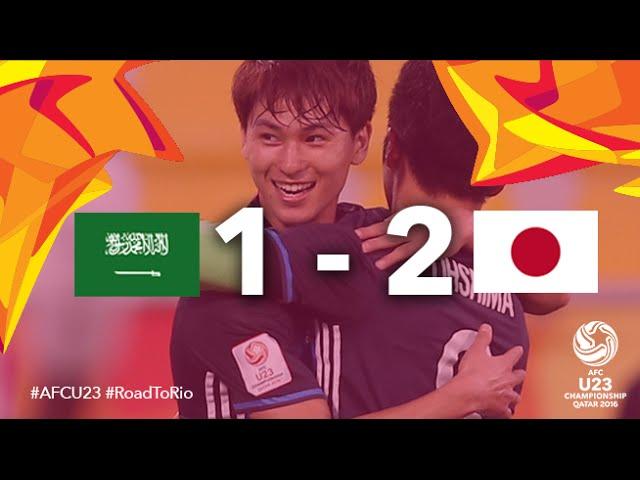 Video: U23 Ảrập Xêút vs U23 Nhật Bản
