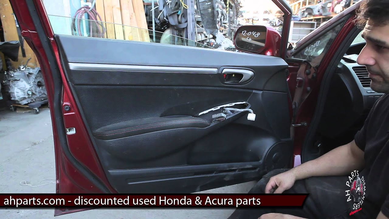 How to change replace install door panel \u0026 mirror DIY fix Honda Civic 2006 2007 2008 2009 2010 2011 - YouTube : civic door - pezcame.com