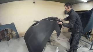 Подготовка к покраске нового бампера