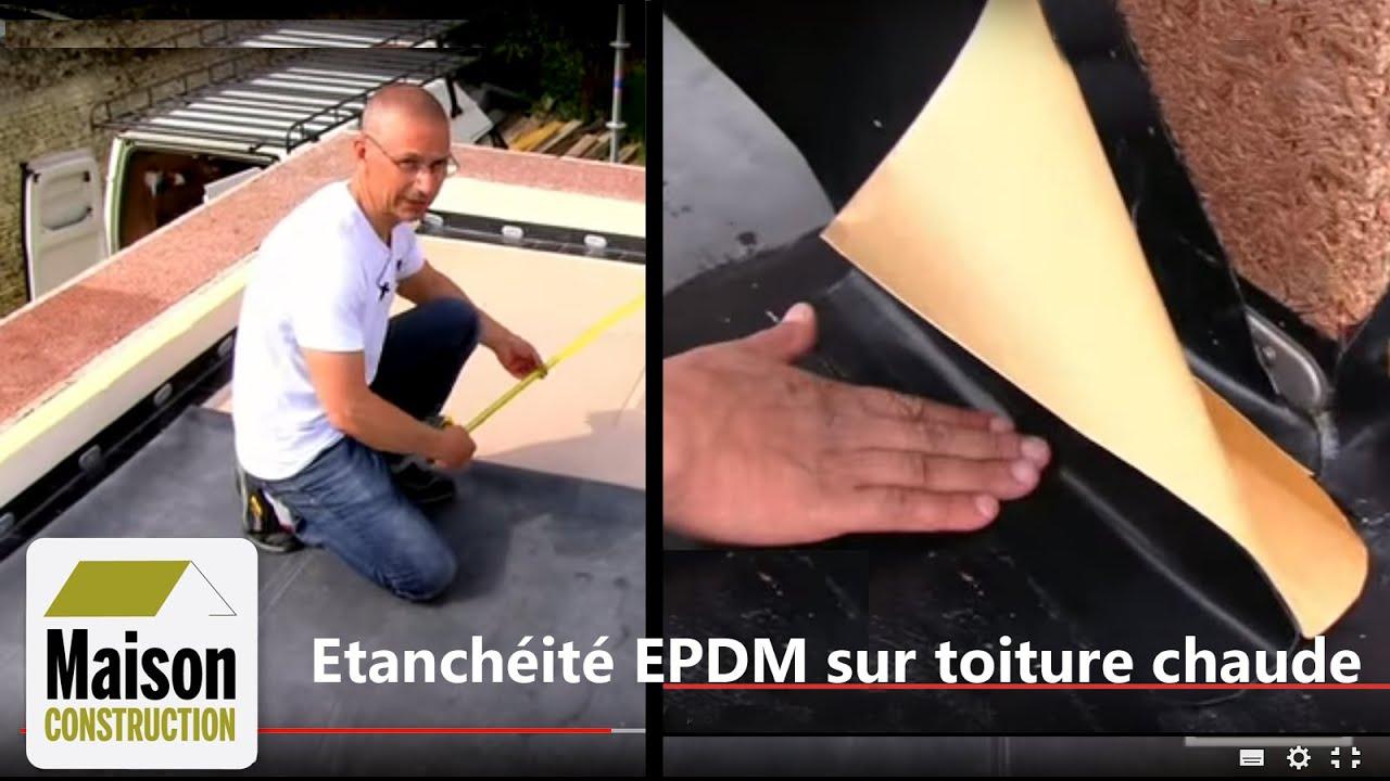 Toiture chaude tanch it epdm partie 2 2 youtube for Bache epdm bassin pour toiture