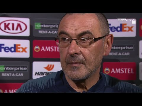 Maurizio Sarri: We deserved to win | Post-match reaction after Frankfurt 1-1 Chelsea