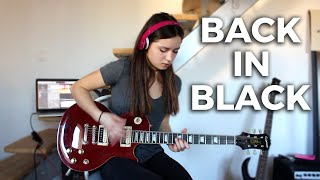 AC/DC - Back in black solo (Cover by Chloé)
