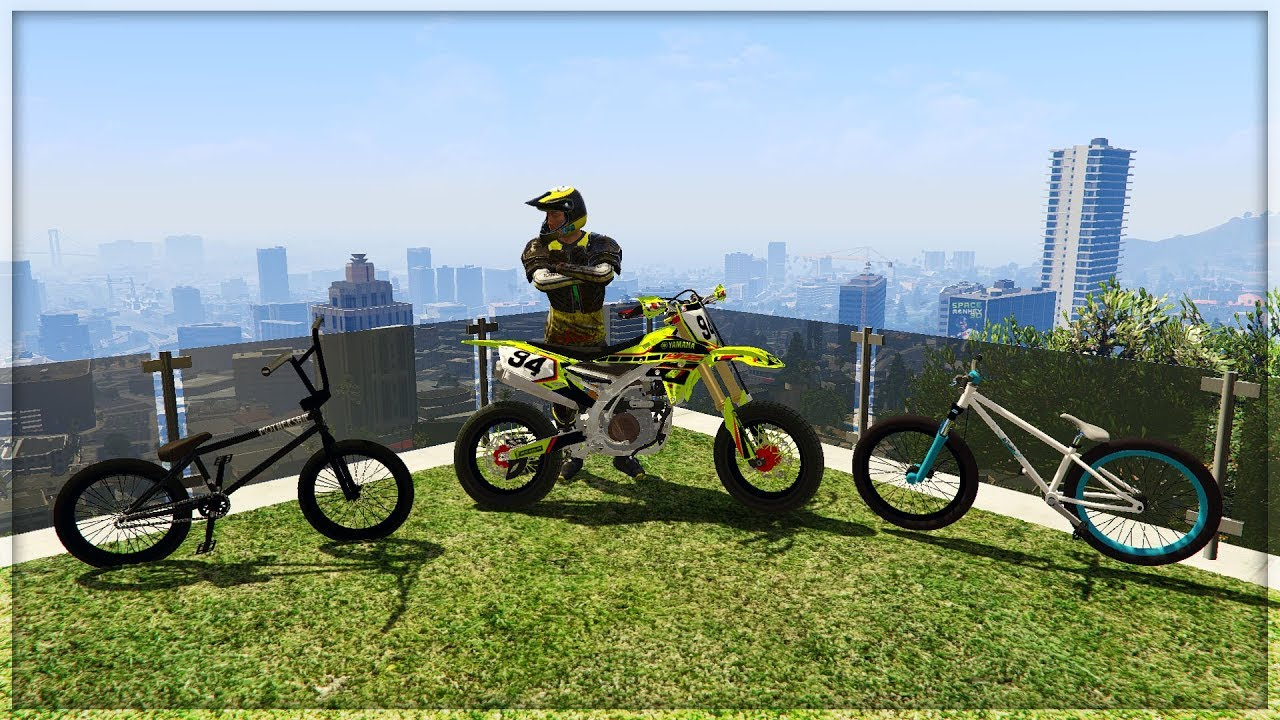 GTA 5 MODS - INSANE BIKE STUNT MODS - YAMAHA YZ450F ...