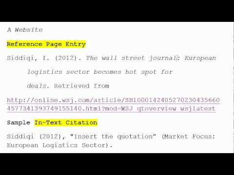 How To Use Apa Format For Citation No 3 A Website