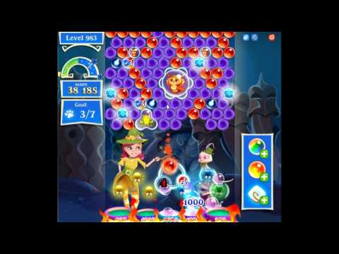 Bubble Witch Saga 2 level 983 NO BOOSTERS