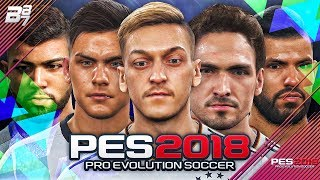 NEW PES 2018 PLAYERS FACES w/ OZIL AND DYBALA!
