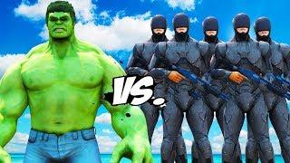 BIG HULK vs RoboCop Army - EPIC BATTLE