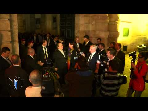 PN MPs leaving Parliament after civil union vote