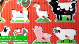 Farm Animals Sound Puzzle By Melissa & Doug 726