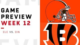 Cleveland Browns vs. Cincinnati Bengals | Week 12 Game Preview | NFL Playbook