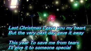 Last Christmas - Wham! マイク無しでカラオケしましたぁ。あらら歌詞に...