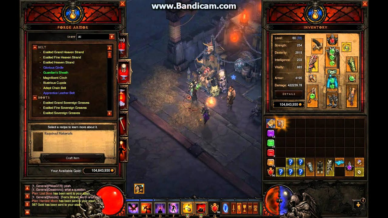 Diablo  Crafting Plans Drop