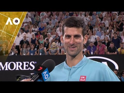 Novak Djokovic on court interview (1R) | Australian Open 2017