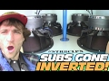 INVERTED SUB BOXES w/ 20,000 Watt Car Audio Install & 4 15