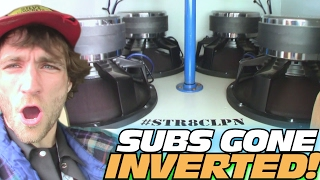 INVERTED SUB BOXES w/ 20,000 Watt Car Audio Install & 4 15