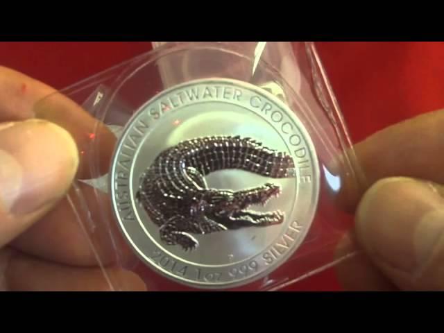 Silber kaufen - Silbermünze Salzwasser Krokodil - 1 Unze Silber - nur 1 Mio Stück von der Perth Mint