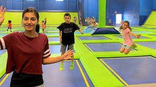 Family Fun Day at the Indoor Trampoline Park for kids