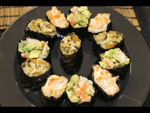 ГОТОВИМ ЗАПЕЧЕНЫ СУШИ ДОМА. Гунканы 寿司