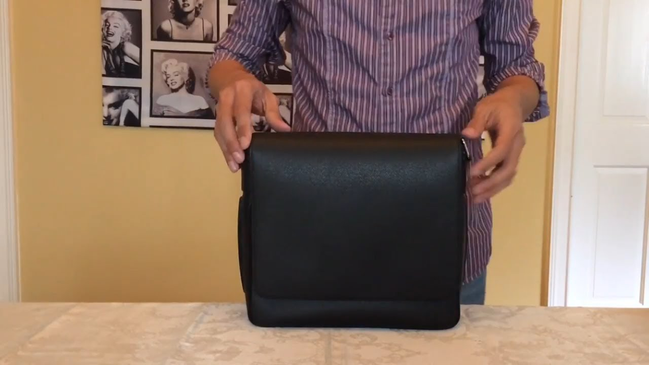 6474d860116 Unboxing Louis Vuitton Collection Roman PM Taiga Leather Ardoise