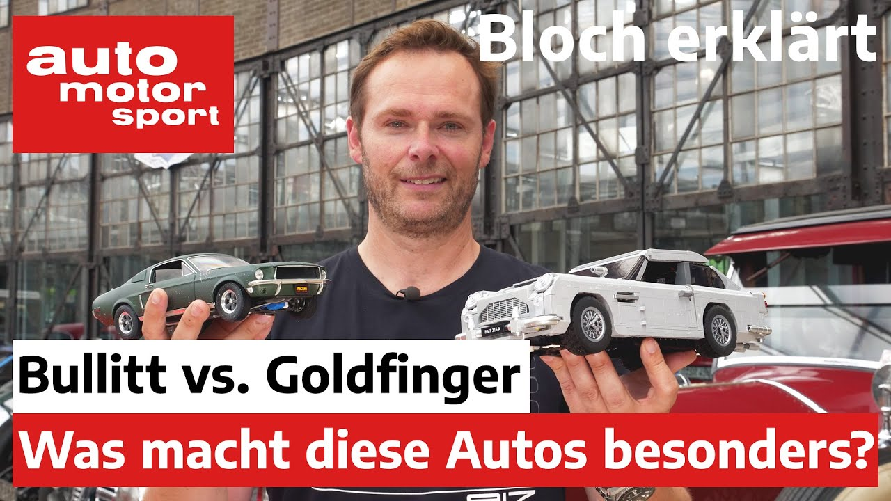 Bullit vs. Goldfinger: Was macht die Film-Autos einzigartig? - Bloch erklärt #154   ams