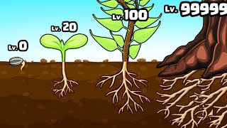 Growing MAX LEVEL ROOTS in Take Root: Growing Plants & Idle Tree Games