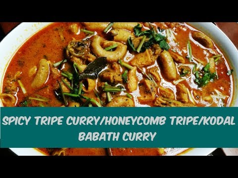 Spicy Tripe Curry/Honeycomb tripe/Kodal Babath curry lankan food-By Tantalizing Foood