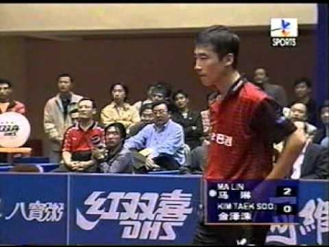 2000 World Cup Table Tennis Men's SIngle Final Ma Lin (Chn) vs Kim Taek Soo (S.Kor)